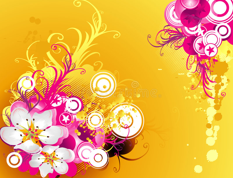 Download Floral vector stock vector. Illustration of paint, frame - 5408848