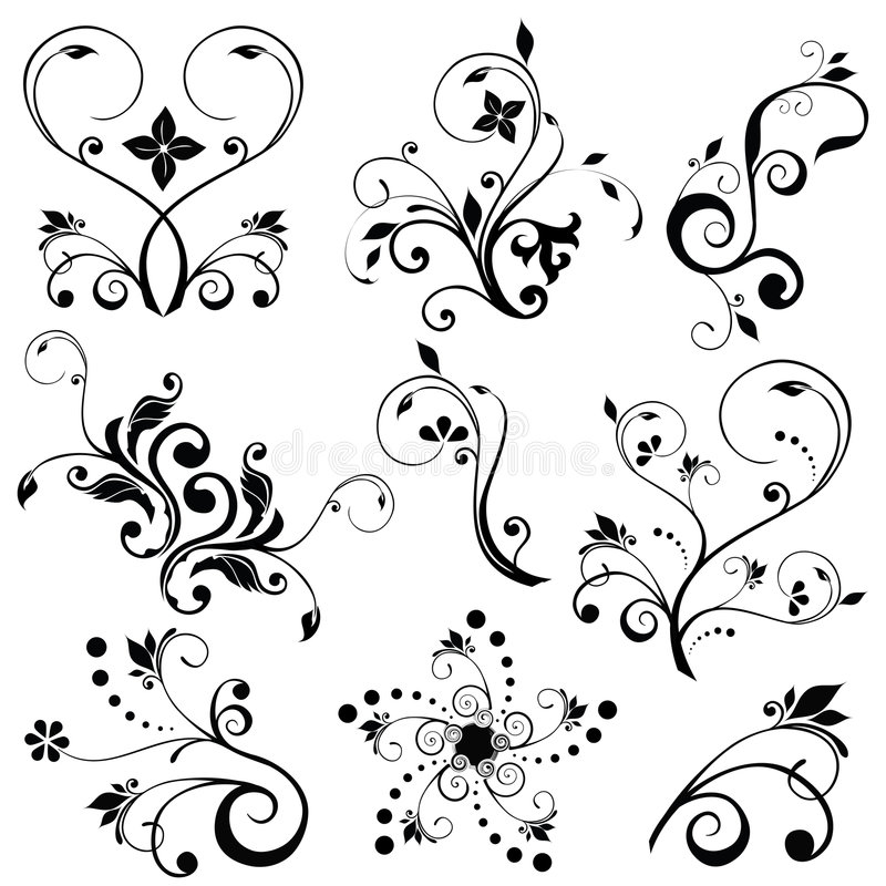Download Floral vector stock vector. Image of heart, swirl, modern - 8543290