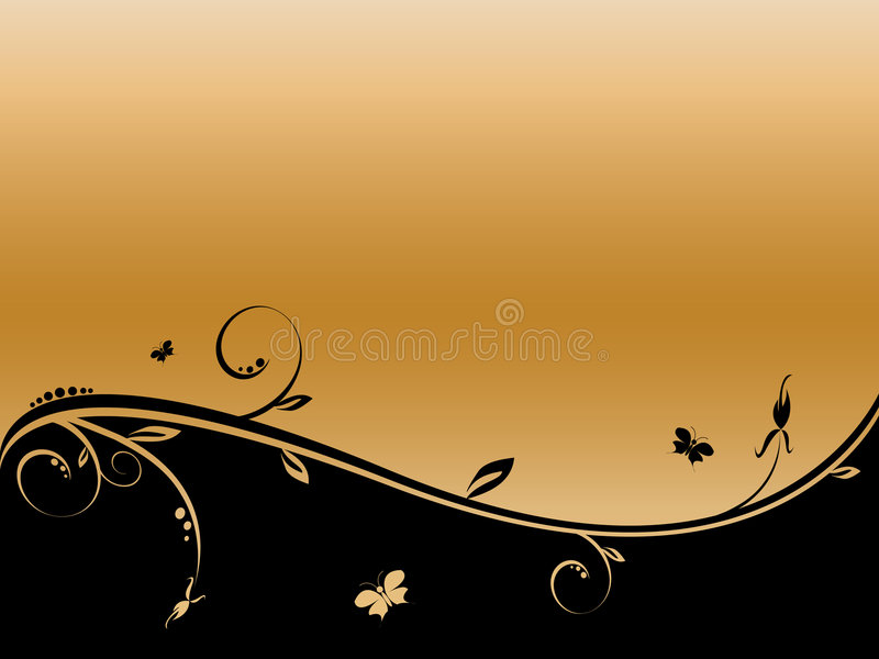 Floral vector abstract background with copy space royalty free illustration