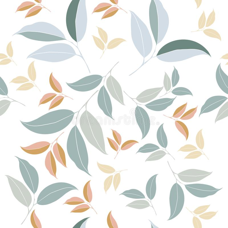 Floral vector clean pattern with simple royalty free illustration