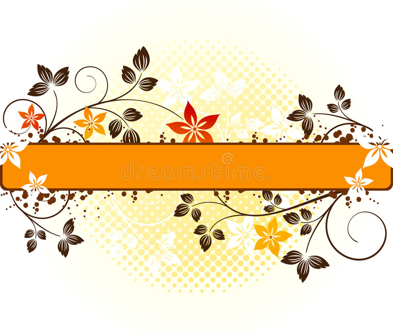 Floral vector design royalty free illustration