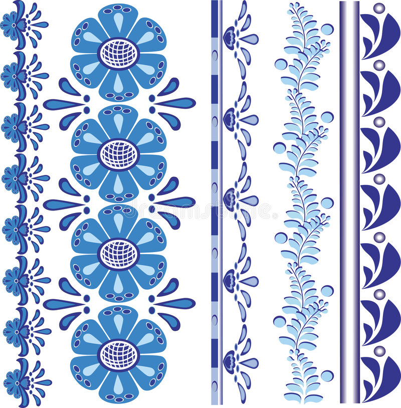 Floral vector design border royalty free stock images