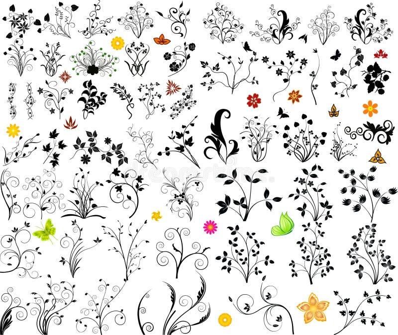 Floral vector element stock illustration