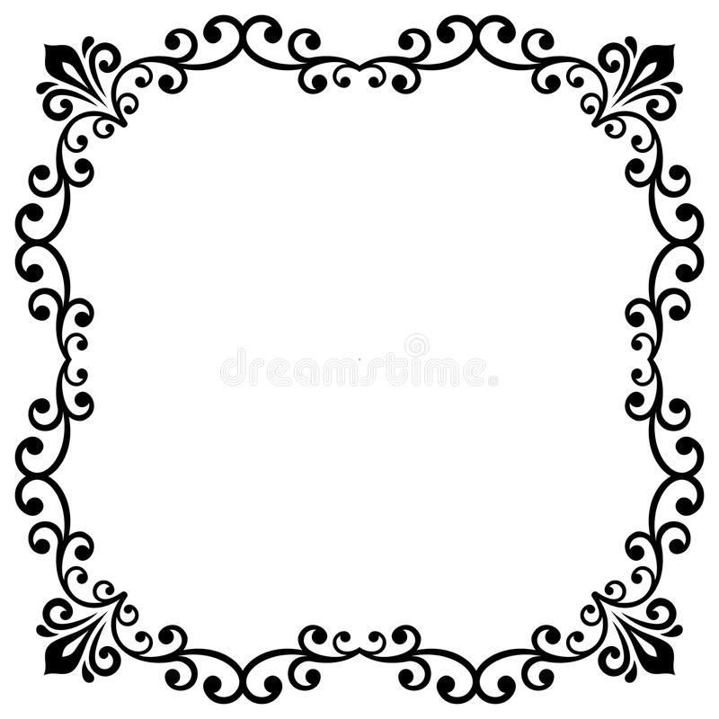 Floral Vector Fine Frame vector illustration