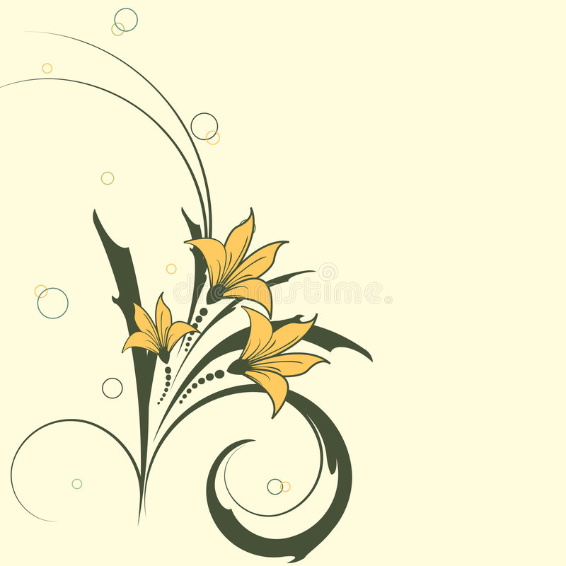 Free Floral Vector With Circles Royalty Free Stock Images - 6211329