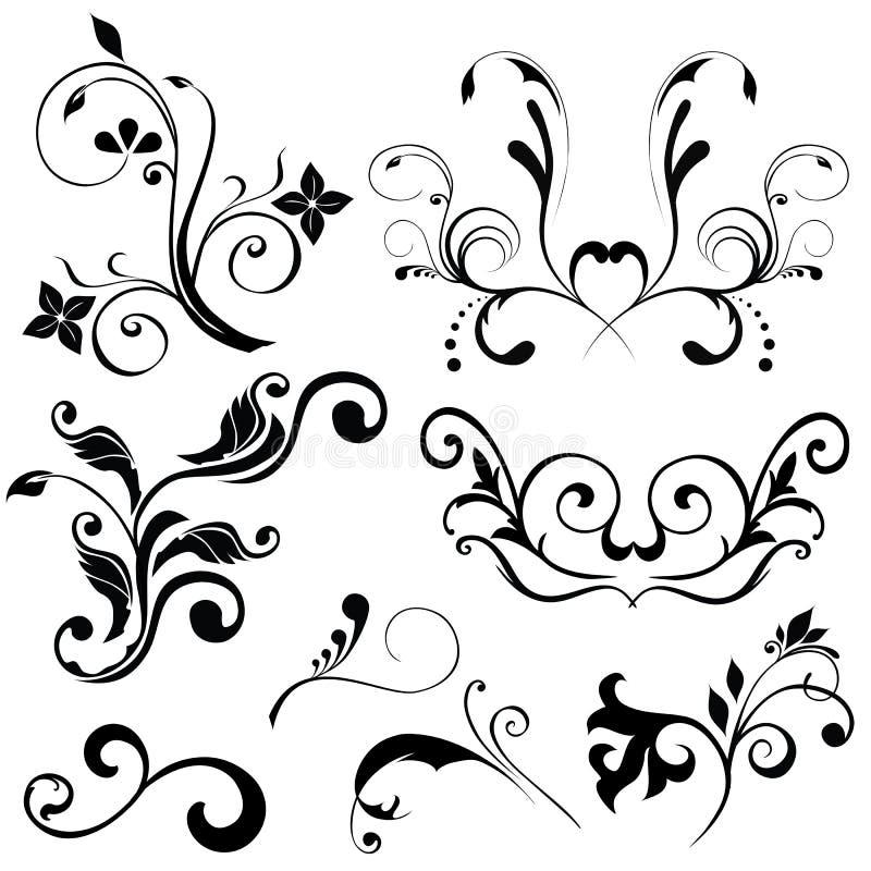 Floral vectors stock illustration