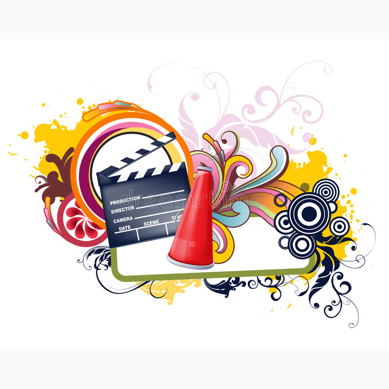 Floral Video Vector Design stock photography