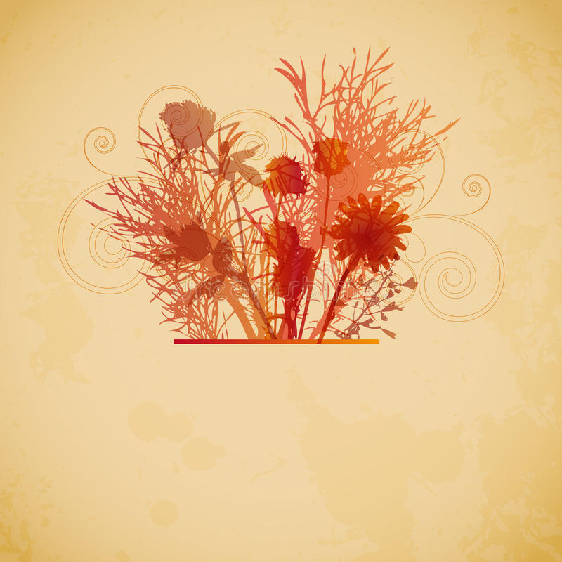 Floral vintage background royalty free stock photos