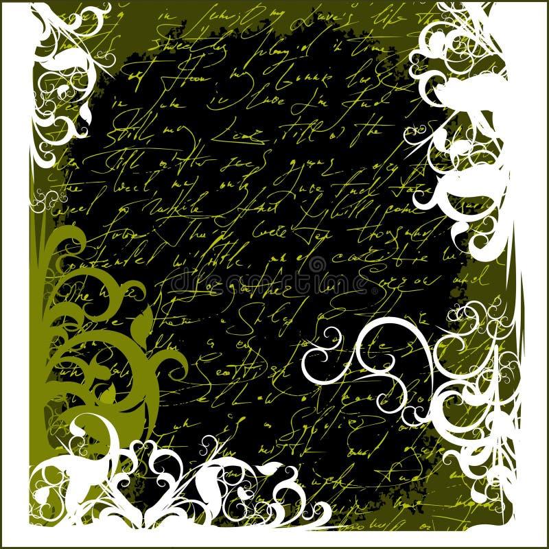 Floral vintage background stock illustration