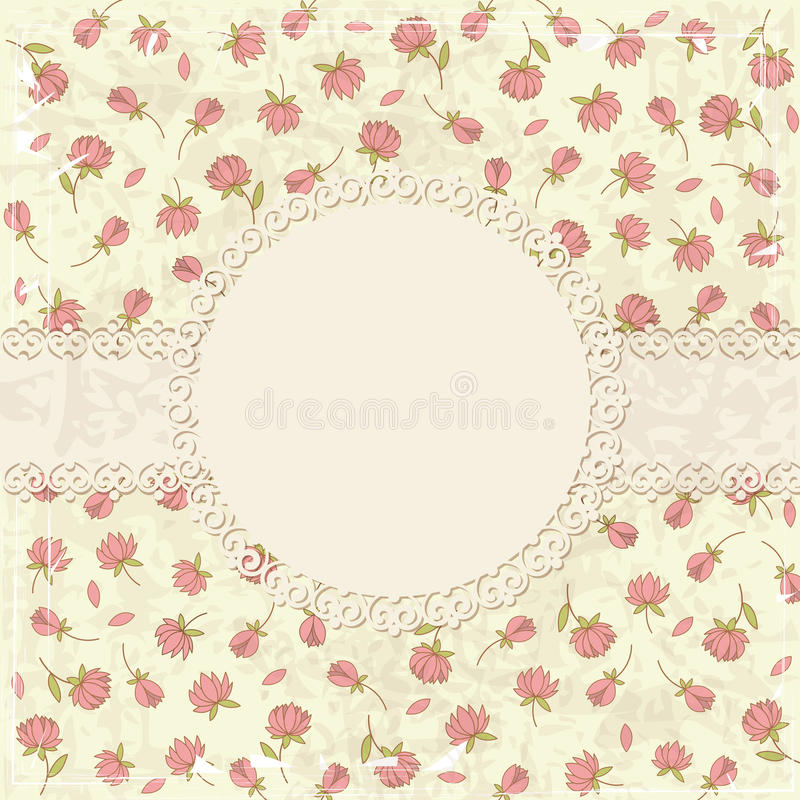 Floral Vintage Background Stock Photos