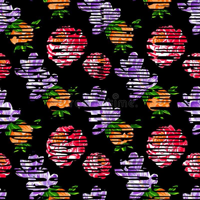 Floral vintage flower pattern vector stock illustration