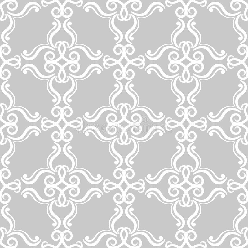 Floral vintage ornaments. Gray seamless patterns for fabric and wallpaper royalty free illustration