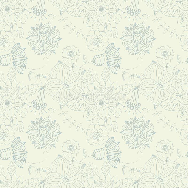 Floral vintage seamless pattern vector illustration