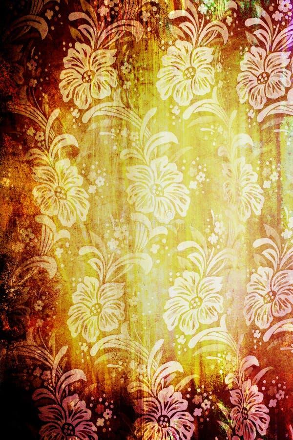 Floral vintage textile stock illustration