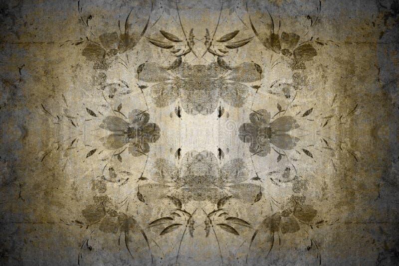 Floral vintage wallpaper stock image
