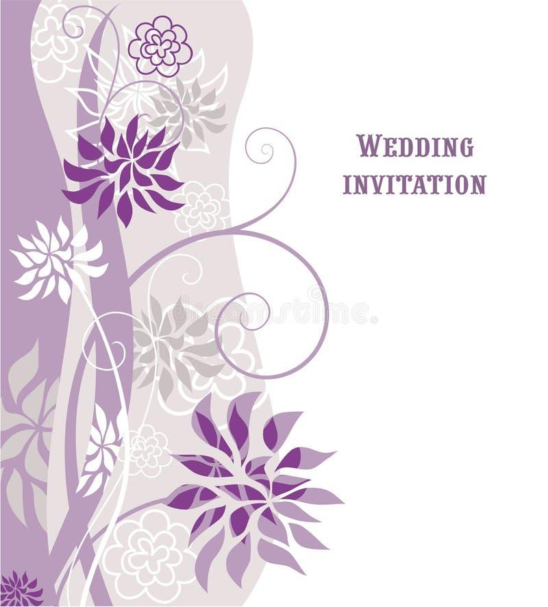 Download Floral  violet background stock vector. Image of natural - 14362767