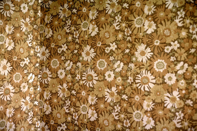 Floral wallpaper. Background of retro style floral wallpaper stock photos
