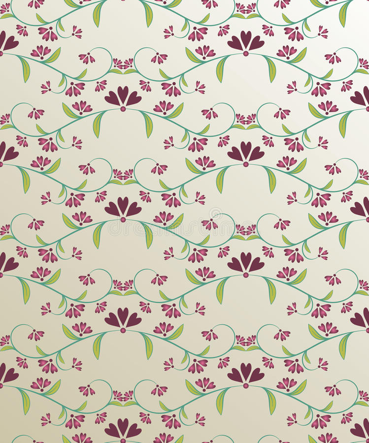 Floral wallpaper vector illustration