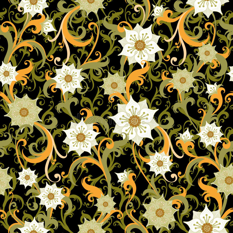 Download Floral wallpaper stock vector. Illustration of flowery - 25979864