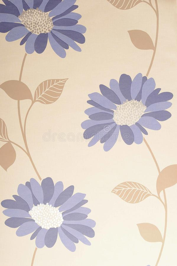 Floral wallpaper. Background of floral or flowery wallpaper stock photos