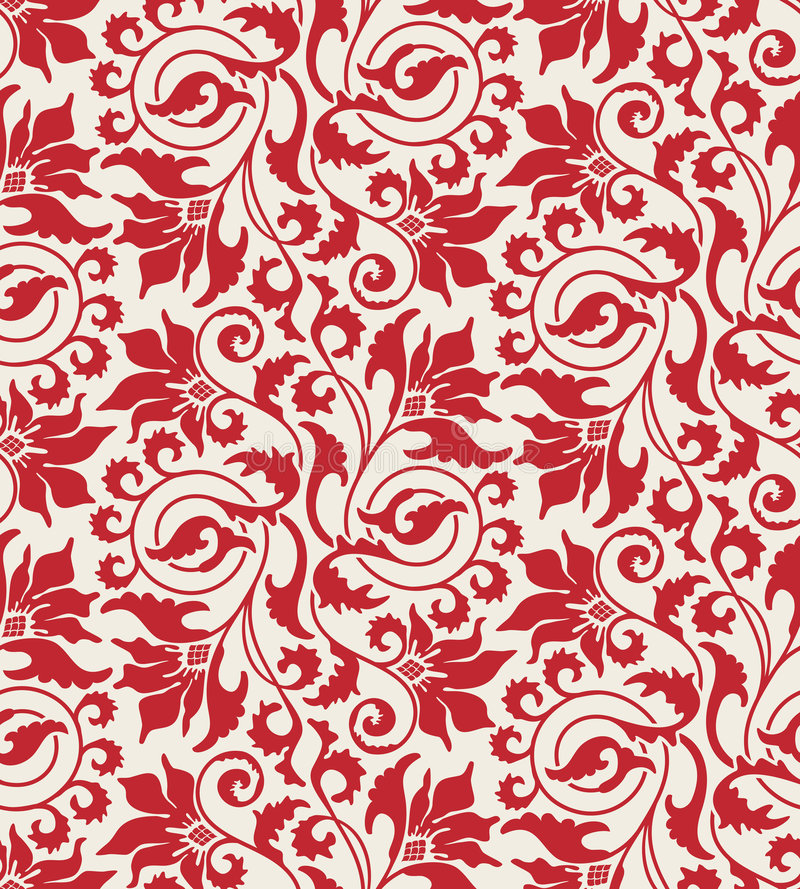 Floral Wallpaper Stock Photos