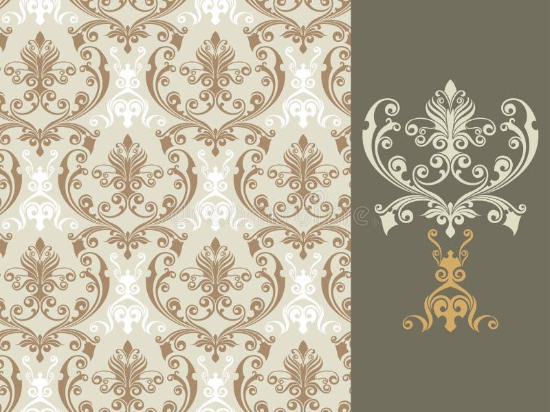 Floral wallpaper vector illustration