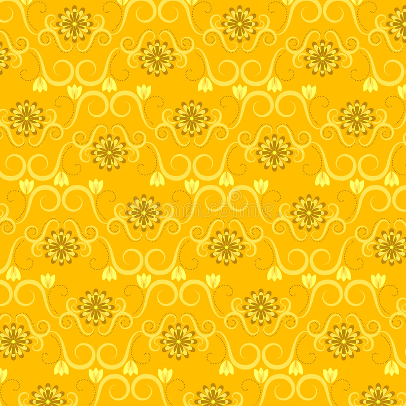 Floral Wallpaper Pattern vector illustration