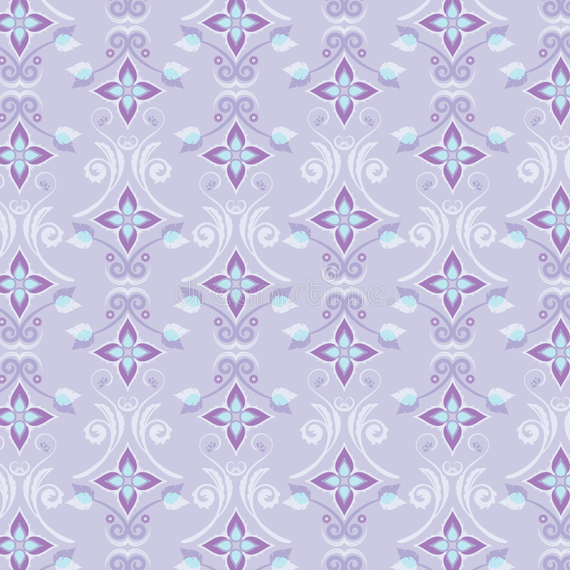 Floral Wallpaper Pattern stock illustration