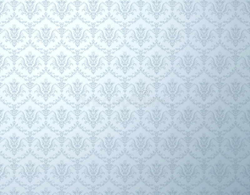 Floral wallpaper. Silver wallpaper with soft floral pattern stock image