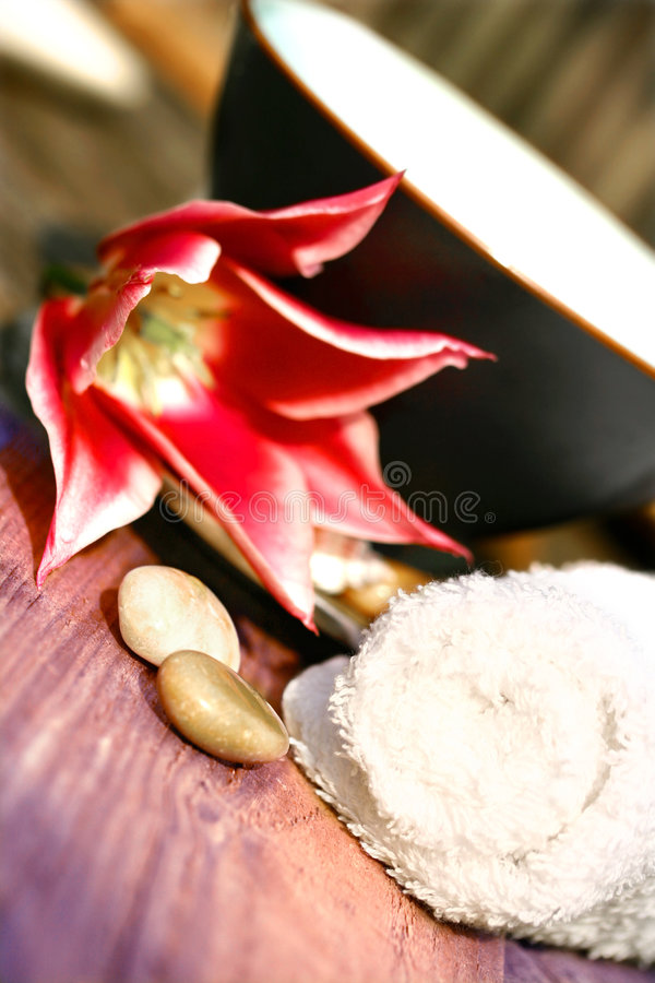 Download Floral Water Setting For Spa Royalty Free Stock Photo - Image: 2308275