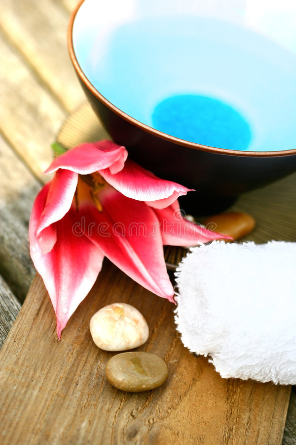 Download Floral Water Setting For Spa Stock Photo - Image: 2308304