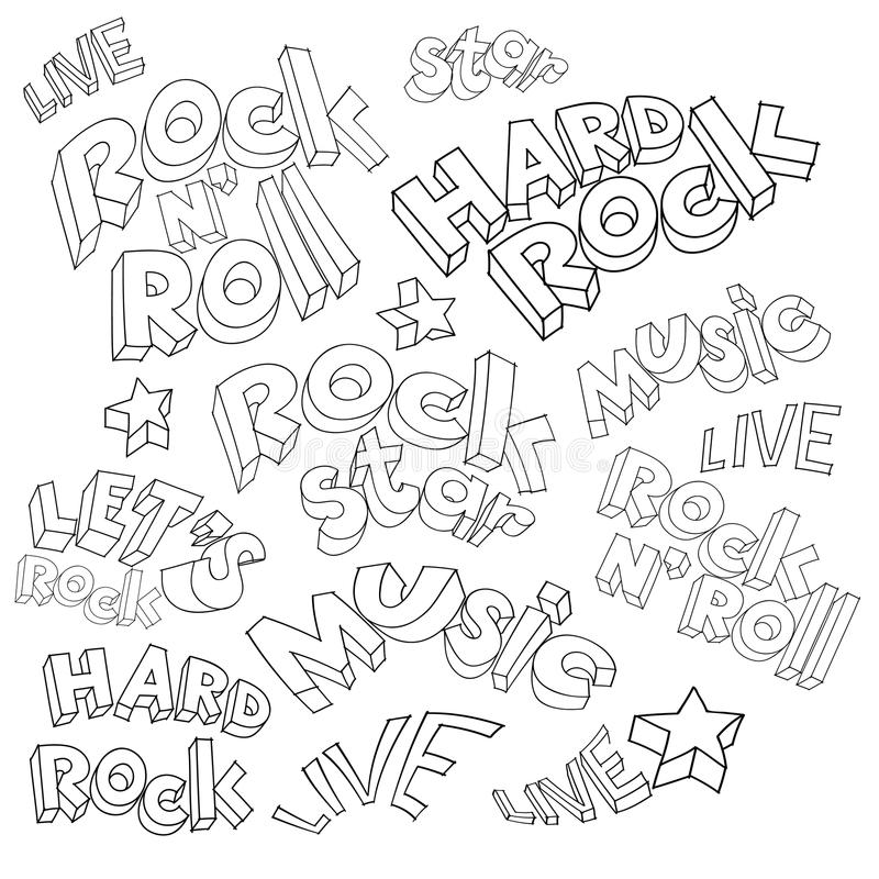 floral watercolor αστερών της ροκ διακοσμήσεων μικροφώνων grunge ελεύθερη απεικόνιση δικαιώματος