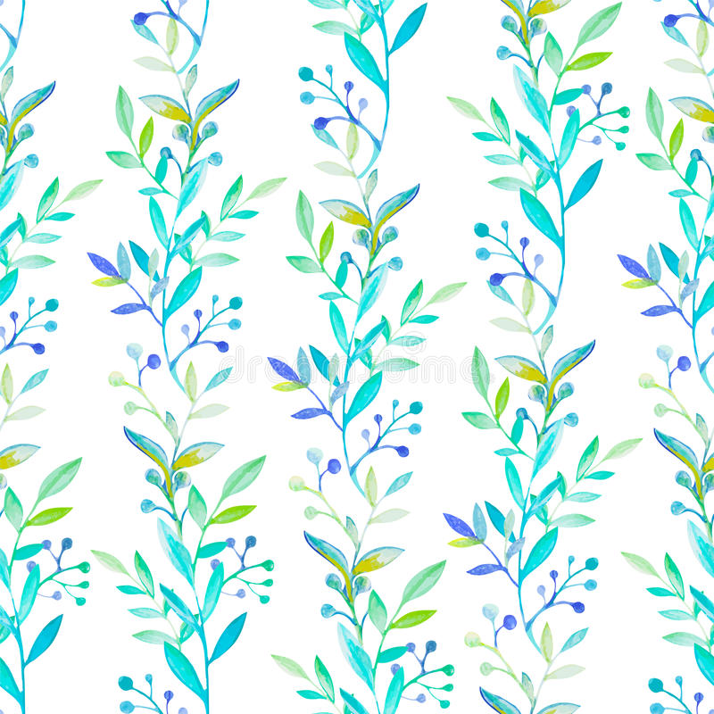 Floral watercolor seamless pattern stock illustration