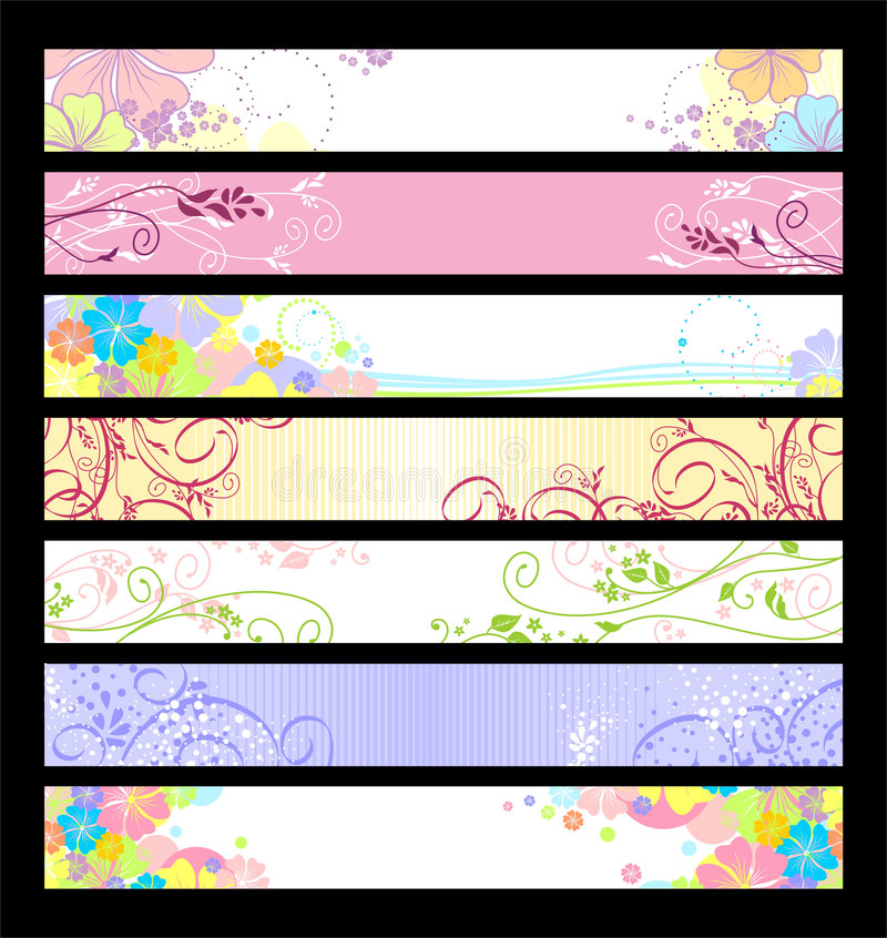 Floral website banners royalty free illustration