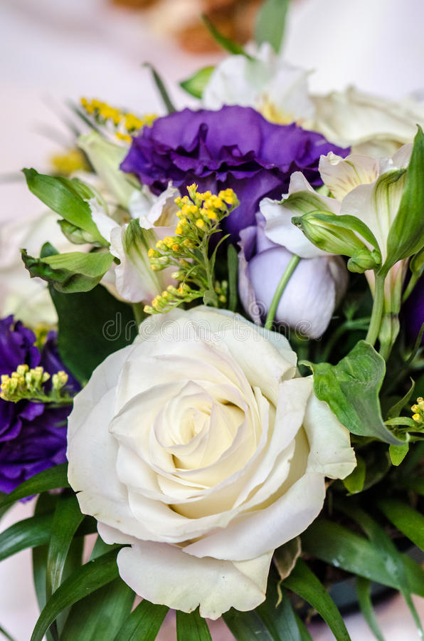 Floral wedding arrangement royalty free stock images
