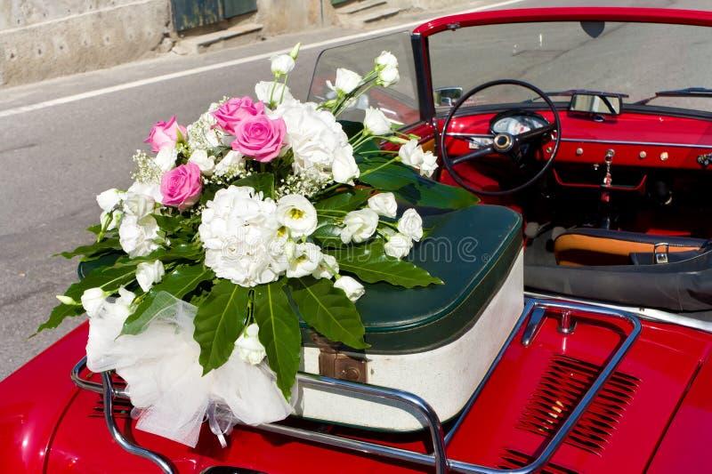 Download Floral Wedding Bouquet On Vintage Car Stock Photo - Image: 26642270