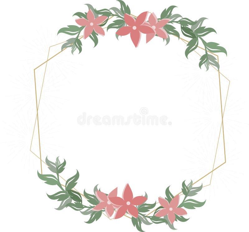 Floral wedding invitation stock illustration