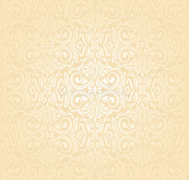 Floral Wedding Peach Invitation Background Design Stock Vector Illustration Of Background Fabric 87803246