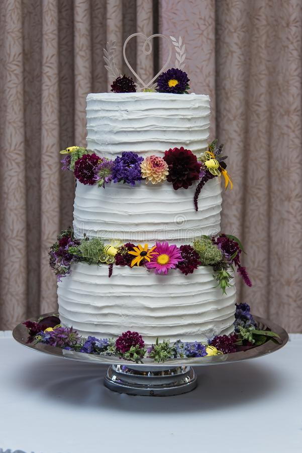 The Wedding Cake at the Reception royalty free stock photography