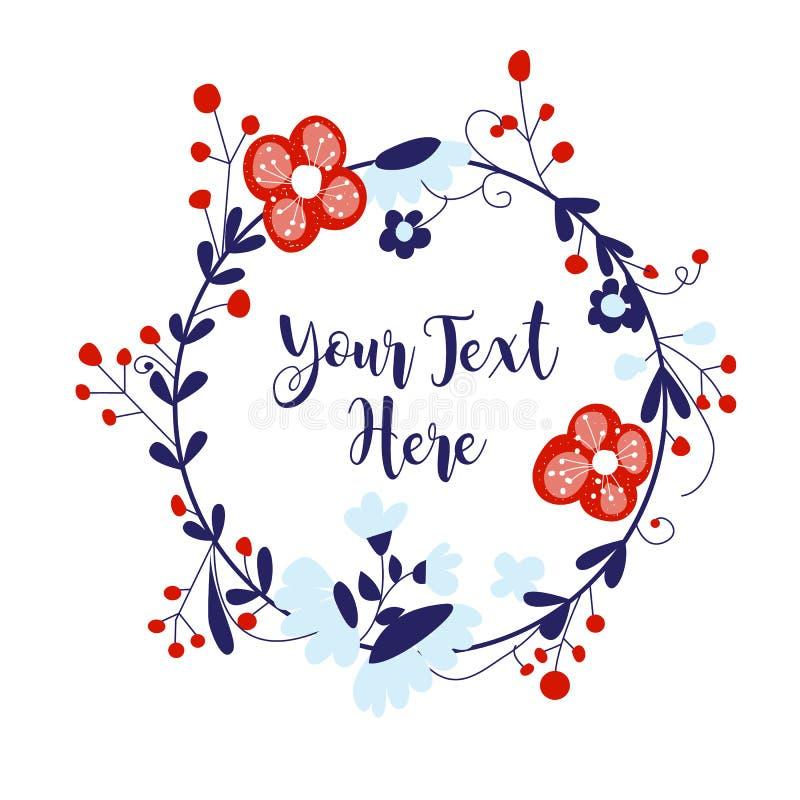 Floral wreath royalty free illustration