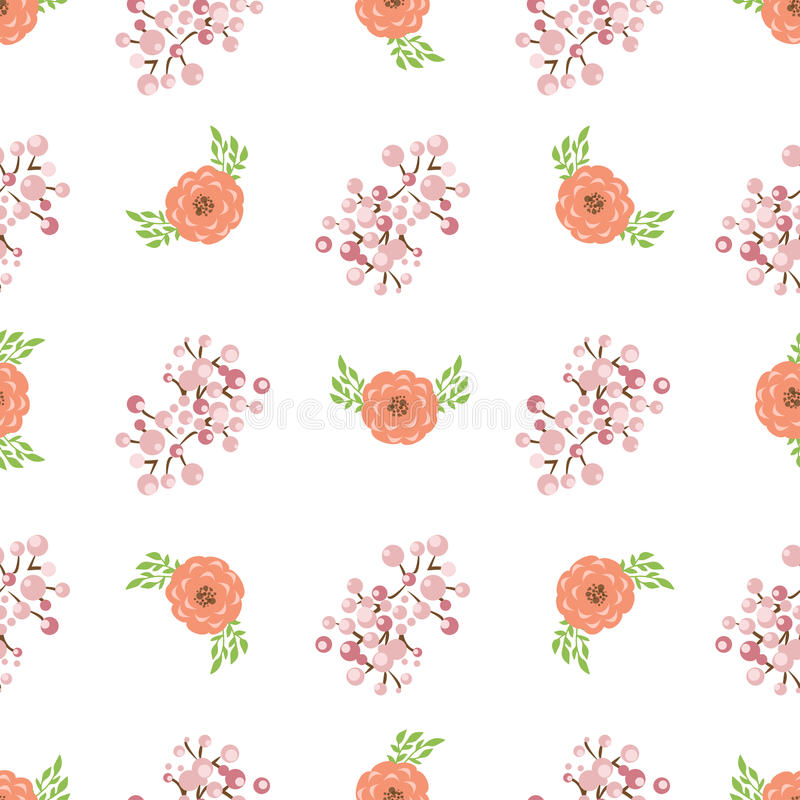 Floral wreath seamless pattern vector. stock image