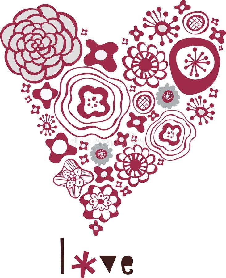 Floraliebes-Formkarte stock abbildung