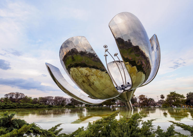 Floralis Generica in Buenos Aires stock image