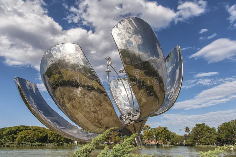Floralis Generica, Buenos Aires, Argentina royalty free stock photo