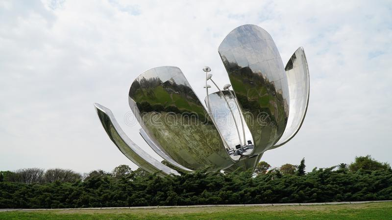 Floralis Generica, Buenos Aires royalty free stock image