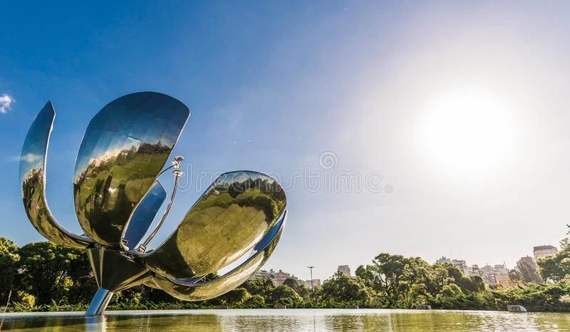 BUENOS AIRES, ARGENTINA - March 17, 2016: Floralis generica monument royalty free stock images