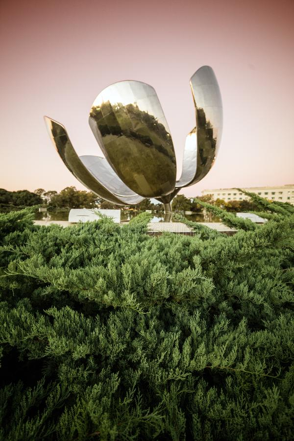 Floralis Generica sculpture stock photos