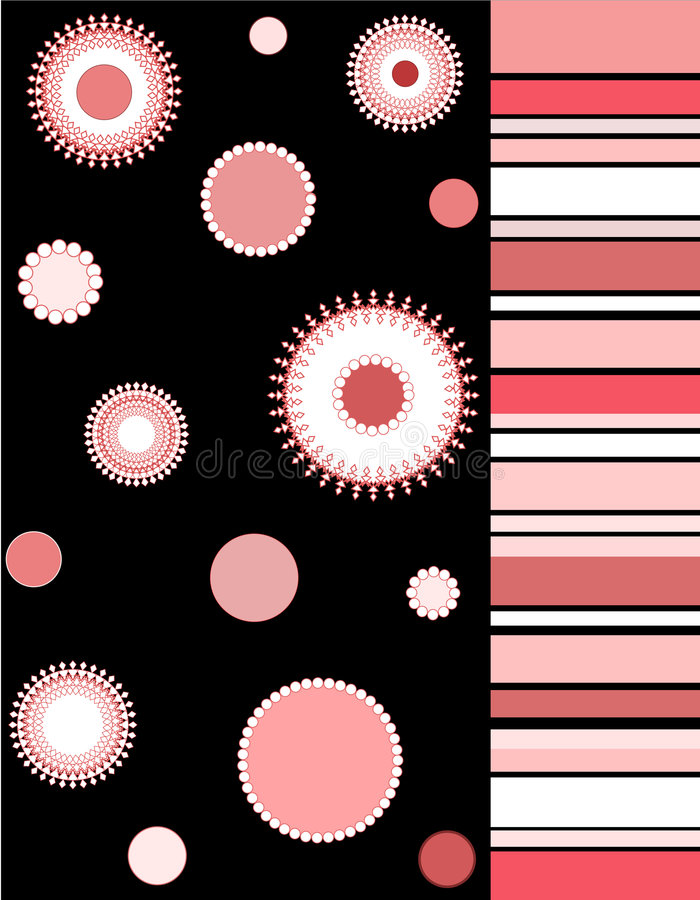 Download Florals and stripes stock illustration. Image of colors - 1999748