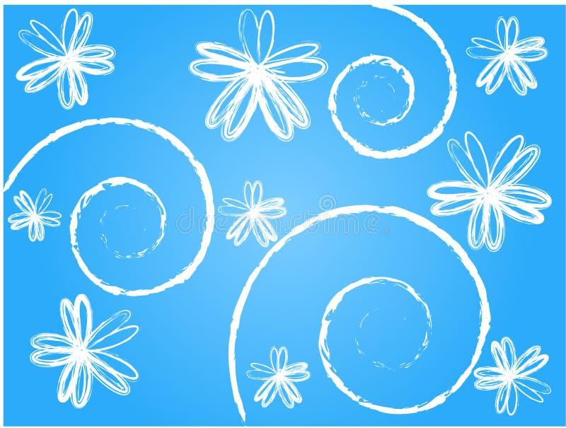 Florals van Grunge stock illustratie