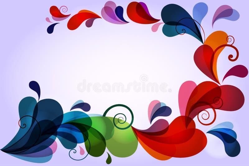 Download FloralWave stock vector. Image of frame, colour, curl - 23440214